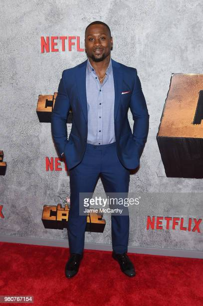 Thomas Q Jones attends the 'Luke Cage' Season 2 premiere at The Edison Ballroom on June 21 2018 in New York City