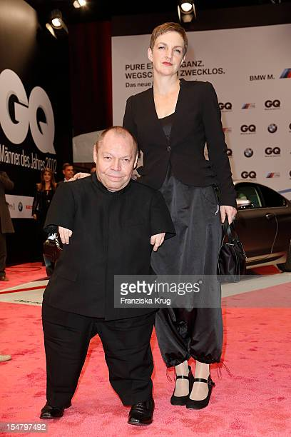 Thomas Quasthoff and Claudia Quasthoff attend the 'GQ Maenner des Jahres 2012' at Komische Oper Berlin on October 26 2012 in Berlin Germany