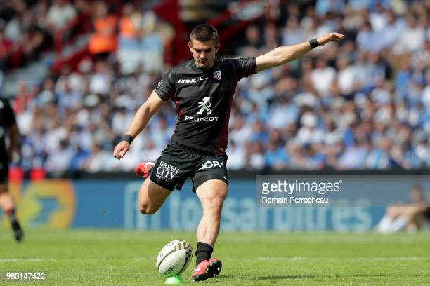 Thomas Ramos of Toulouse in action during the French Top 14 match between Stade Toulousain and Castres at Stade Ernest Wallon on May 19 2018 in...