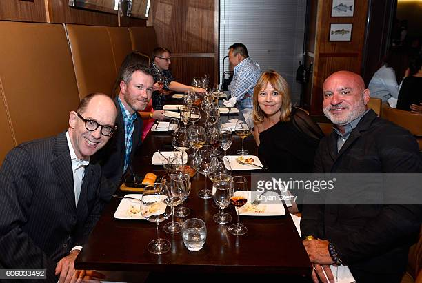 Thomas Ratcliff Chris Eagle Sarah Harper and Wayne Heart attend the Las Vegas Food Wine Festival at Bazaar Meat at SLS Las Vegas Hotel on September...
