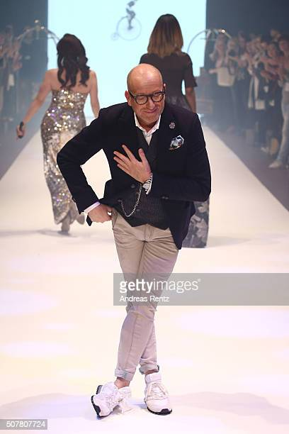 Thomas Rath is seen on the runway at the Thomas Rath show during Platform Fashion January 2016 at Areal Boehler on January 31 2016 in Duesseldorf...
