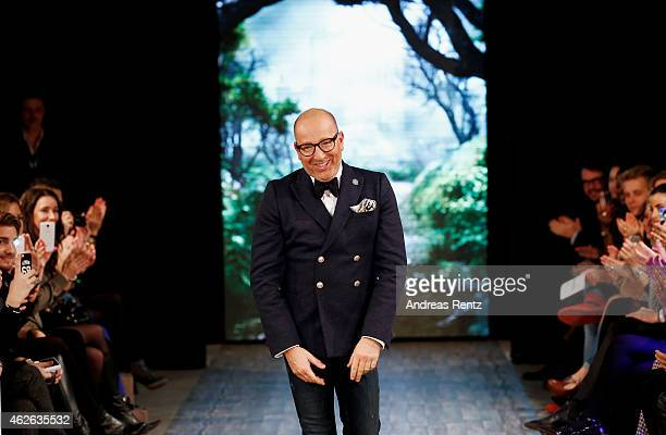 Thomas Rath walks the runway at the Thomas Rath show during the Platform Fashion February 2015 on February 1 2015 in Duesseldorf Germany