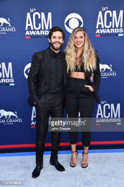 Thomas Rhett and Lauren Akins attend the 54th Academy Of Country Music Awards at MGM Grand Hotel Casino on April 07 2019 in Las Vegas Nevada
