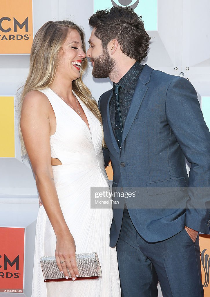 Thomas Rhett And Lauren Gregory Arrive At The 51st Academy Of