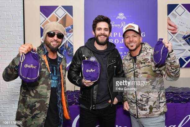 Thomas Rhett and LOCASH team up with the Crown Royal Purple Bag Project to assemble care packages for servicemen and women overseas on November 13...