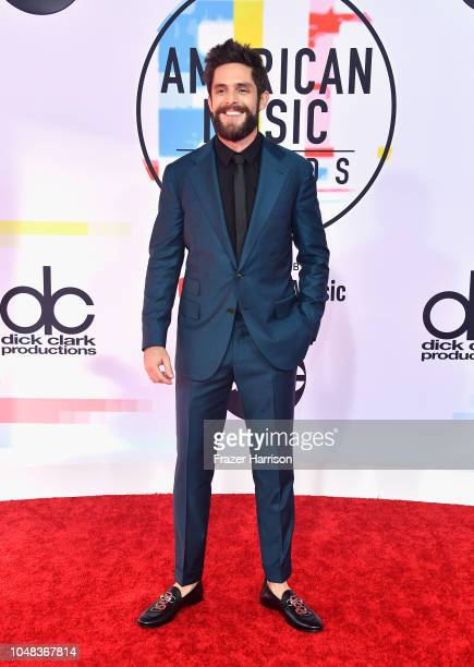 Thomas Rhett attends the 2018 American Music Awards at Microsoft Theater on October 9 2018 in Los Angeles California