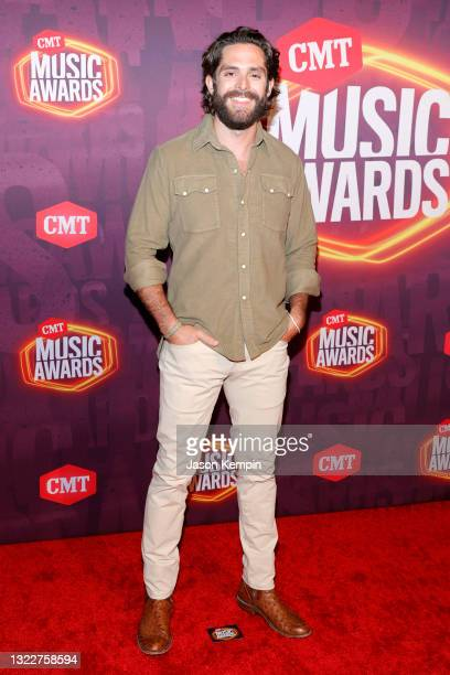 Thomas Rhett attends the 2021 CMT Music Awards at Bridgestone Arena on June 09, 2021 in Nashville, Tennessee.