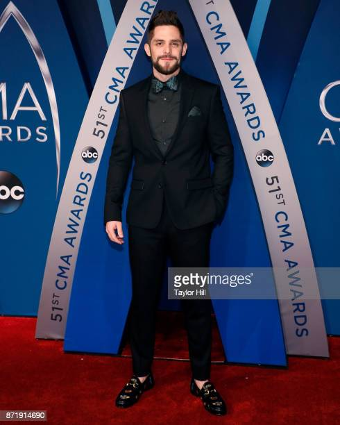 Thomas Rhett attends the 51st annual CMA Awards at the Bridgestone Arena on November 8 2017 in Nashville Tennessee