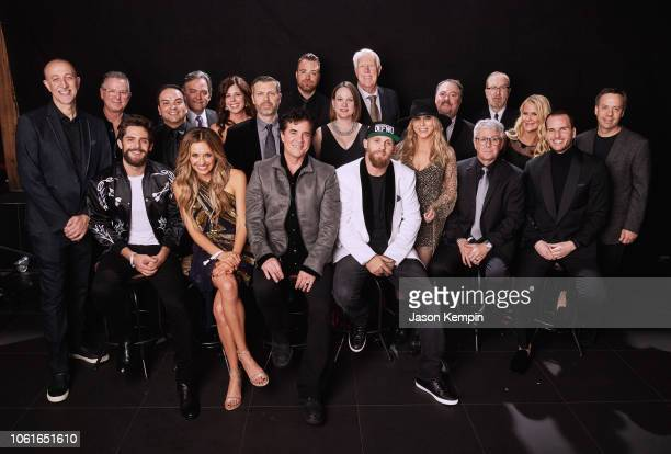 Thomas Rhett Carly Pearce Brantley Gilbert and Big Machine Label Group Executives attend Big Machine Label Group Celebrates the 52nd Annual CMA...