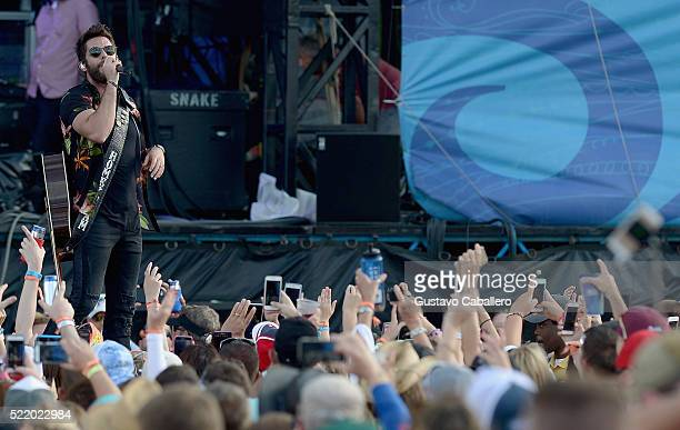 Thomas Rhett is onstage during Tortuga Music Festival on April 17 2016 in Fort Lauderdale Florida