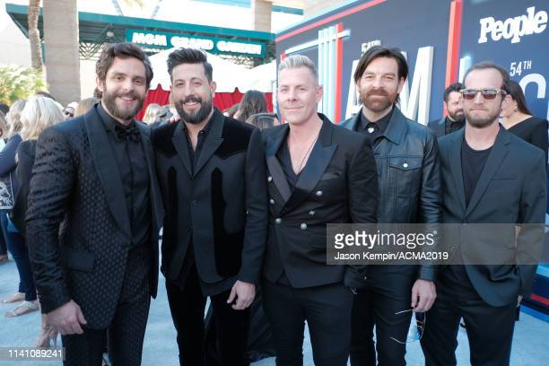 Thomas Rhett Matthew Ramsey Trevor Rosen Geoff Sprung and Whit Sellers attend the 54th Academy Of Country Music Awards at MGM Grand Garden Arena on...
