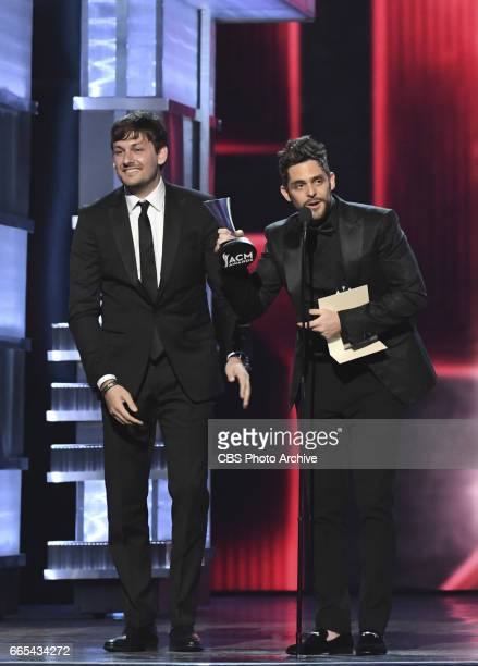 Thomas Rhett on stage during THE 52ND ACADEMY OF COUNTRY MUSIC AWARDS scheduled to air LIVE from TMobile Arena in Las Vegas Sunday April 2 on the CBS...