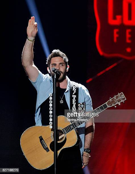 Thomas Rhett performs at 2016 iHeartCountry Festival at The Frank Erwin Center on April 30 2016 in Austin Texas