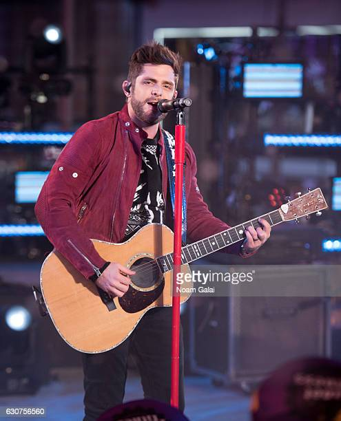 Thomas Rhett performs during New Year's Eve 2017 in Times Square on December 31 2016 in New York City