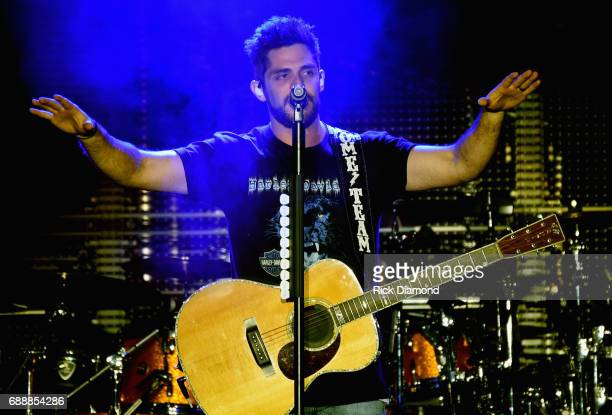 Thomas Rhett performs during Tree Town Music Festival Day 2 on May 26 2017 in Heritage Park Forest City Iowa