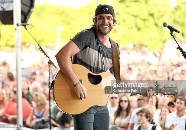 Thomas Rhett performs onstage at the 2013 BMI Tailgate Party at LP Field on June 6 2013 in Nashville Tennessee