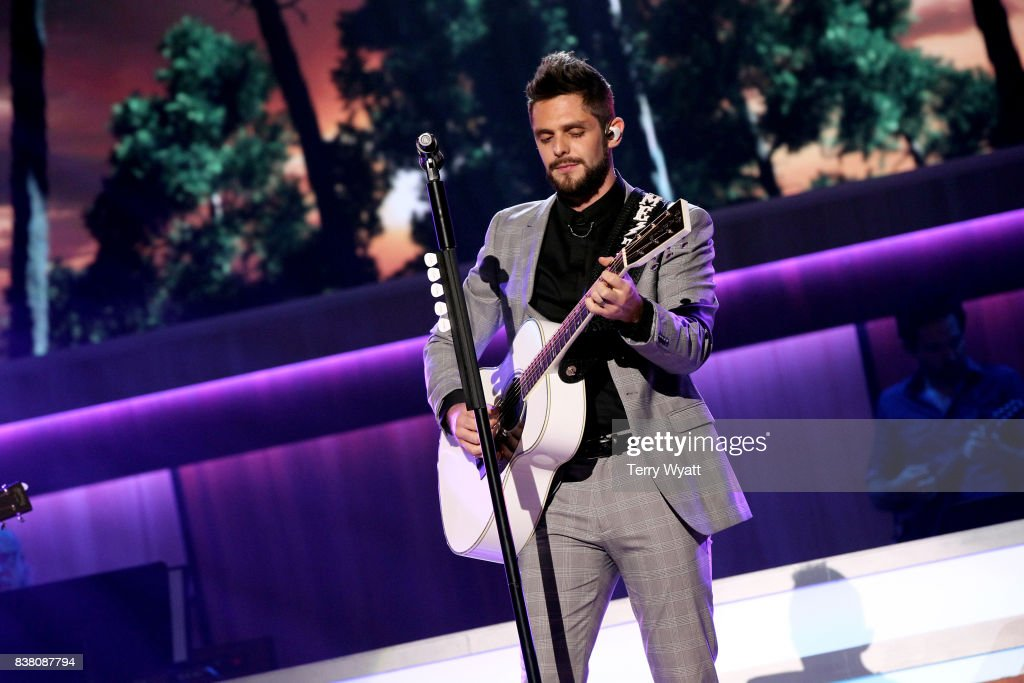 Thomas Rhett performs onstage during the 11th Annual ACM Honors at the Ryman Auditorium on August 23, 2017 in Nashville, Tennessee.