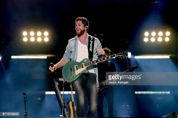Thomas Rhett performs onstage during the 2018 CMA Music festival at Nissan Stadium on June 10 2018 in Nashville Tennessee