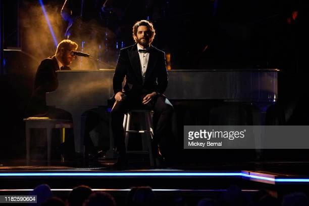 Thomas Rhett performs onstage during the 53rd annual CMA Awards at the Bridgestone Arena on November 13 2019 in Nashville Tennessee