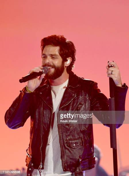 Thomas Rhett performs onstage during the 54th Academy Of Country Music Awards at MGM Grand Garden Arena on April 07 2019 in Las Vegas Nevada