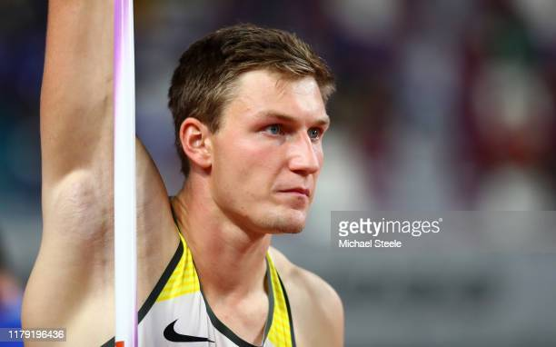 Thomas Röhler of Germany competes in the Men's Javelin qualification during day nine of 17th IAAF World Athletics Championships Doha 2019 at Khalifa...
