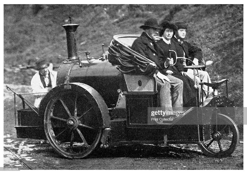 Thomas Rickett's steam carriage, 1860 (1956). : News Photo