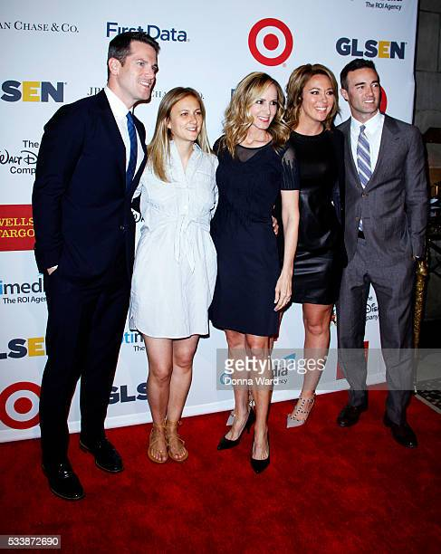 Thomas Roberts Chely BlitzerWright Lauren BlitzerWright Brooke Baldwin and Rick Gomez attend the 2016 GLSEN Respect Awards at Cipriani 42nd Street on...
