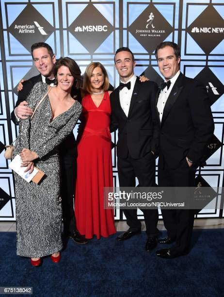 Thomas Roberts Kasie Hunt Chris Jansing Patrick Abner and Peter Alexander attend the White House Correspondents Dinner MSNBC After Party at...