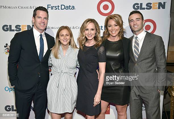 Thomas Roberts, Lauren Blitzer-Wright, Chely Blizer-Wright, Brooke Baldwin, and Patrick Abner arrive at the GLSEN Respect Awards at Cipriani 42nd...