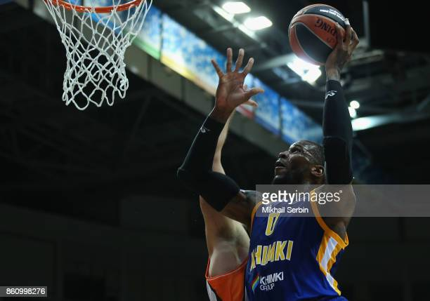 Thomas Robinson #0 of Khimki Moscow Region in action during the 2017/2018 Turkish Airlines EuroLeague Regular Season Round 1 game between Khimki...