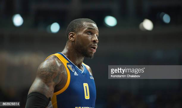 Thomas Robinson #0 of Khimki Moscow Region in action during the 2017/2018 Turkish Airlines EuroLeague Regular Season Round 2 game between Khimki...