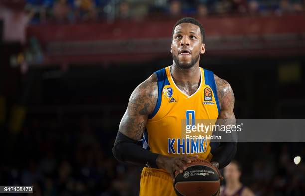 Thomas Robinson #0 of Khimki Moscow Region in action during the 2017/2018 Turkish Airlines EuroLeague Regular Season Round 30 game between FC...