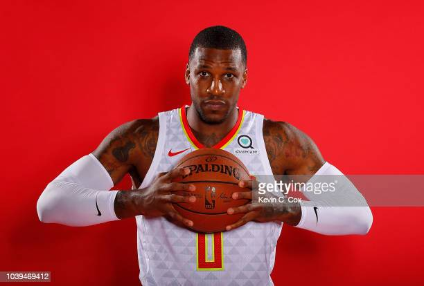 Thomas Robinson of the Atlanta Hawks poses for portraits during media day at Emory Sports Medicine Complex on September 24 2018 in Atlanta Georgia