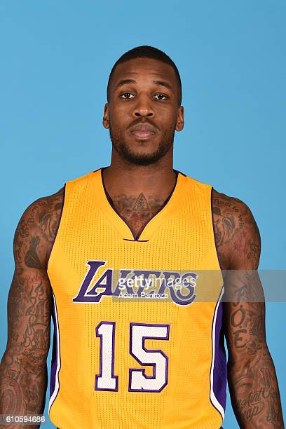 Thomas Robinson of the Los Angeles Lakers poses for a headshot during 20162017 Los Angeles Lakers Media Day at Toyota Sports Center on September 26...