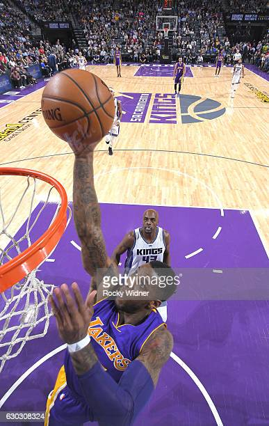 Thomas Robinson of the Los Angeles Lakers shoots against the Sacramento Kings on December 12 2016 at Golden 1 Center in Sacramento California NOTE TO...
