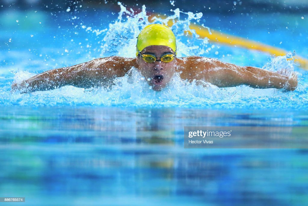 thomas rocha of brazil competes in mens 100 m butterfly s12 during day 3 of the - Olympic Swimming Pool 2017