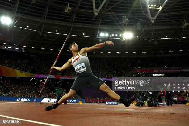 Thomas Roehler of Germany in action in the Men's Javelin final during day nine of the 16th IAAF World Athletics Championships London 2017 at The...