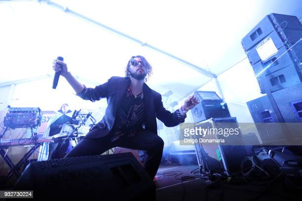 Thomas Ross Turner and Aaron Kyle Behrens of Ghostland Observatory perform onstage at Twix Event during SXSW at Lustre Pearl on March 15 2018 in...