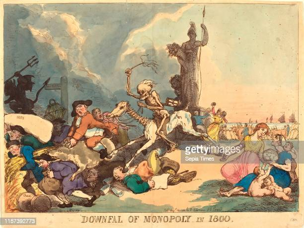 Thomas Rowlandson Downfall of Monopoly in 1800 published 1800 hand colored etching
