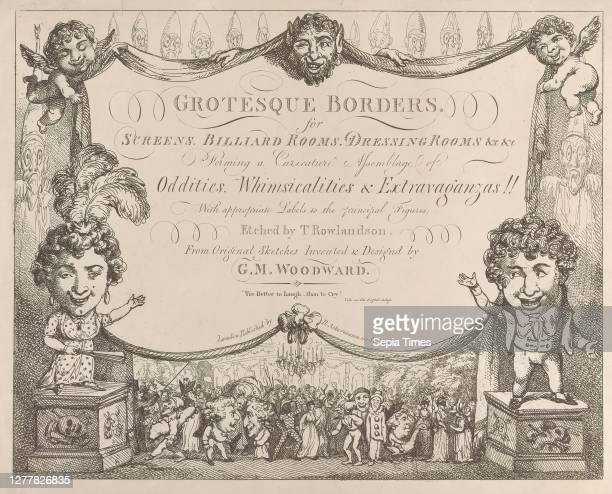 Thomas Rowlandson, Grotesque Borders for Screens, Billiard Rooms, Dressing Rooms, &c &c, Thomas Rowlandson , After George Moutard Woodward ,...