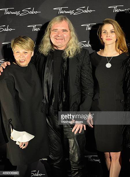 Thomas Sabo creativ director Susanne Koelbli and model Lisa Tomaschewsky attends the Thomas Sabo flagship store opening at Restaurant Zenzakan on...