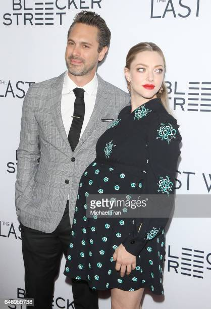 Thomas Sadoski and Amanda Seyfried arrive at the Los Angeles premiere of The Last Word held at ArcLight Hollywood on March 1 2017 in Hollywood...