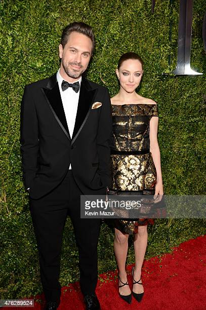 Thomas Sadoski and Amanda Seyfried attend the 2015 Tony Awards at Radio City Music Hall on June 7 2015 in New York City