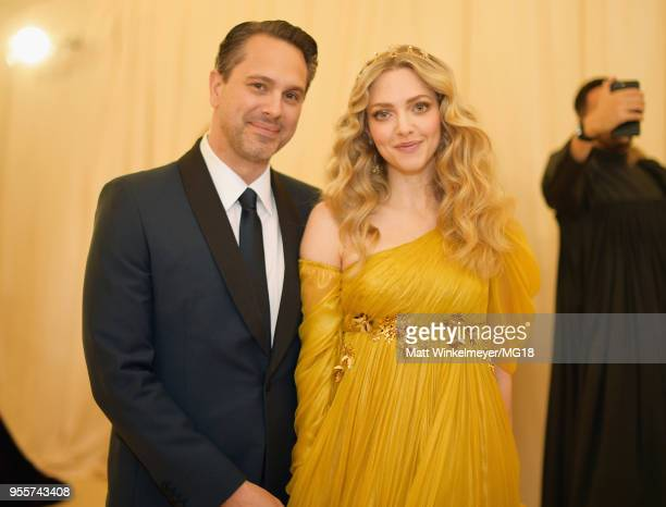 Thomas Sadoski and Amanda Seyfried attend the Heavenly Bodies Fashion The Catholic Imagination Costume Institute Gala at The Metropolitan Museum of...