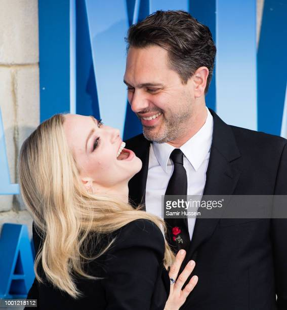 Thomas Sadoski and Amanda Seyfried attend the UK Premiere of Mamma Mia Here We Go Again at Eventim Apollo on July 16 2018 in London England