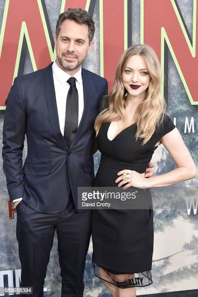 Thomas Sadoski and Amanda Seyfried attend the World Premiere Of Showtime's 'Twin Peaks' at The Theatre at Ace Hotel on May 19 2017 in Los Angeles...