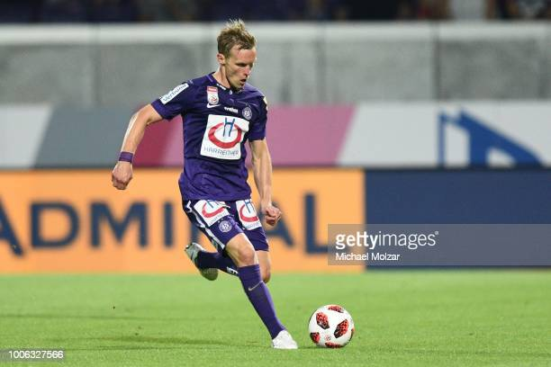 Thomas Salamon of Austria Wien during the tipico Bundesliga match between Austria Wien and FC Wacker Innsbruck at Generali Arena on July 27 2018 in...