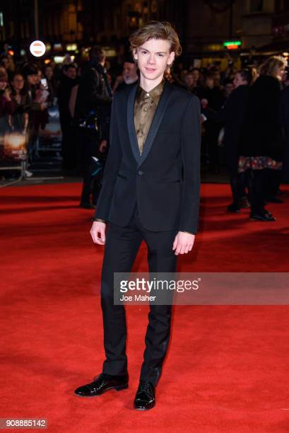 Thomas Sangster attends the UK fan screening of 'Maze Runner The Death Cure' at Vue West End on January 22 2018 in London England