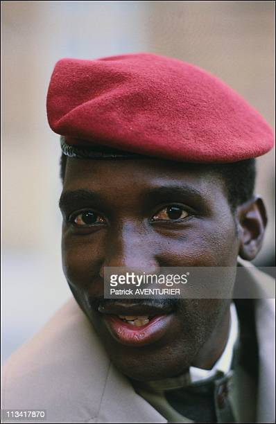 Thomas Sankara And Francois Mitterrand At The Elysee Palace On February 5th 1986 In ParisFrance