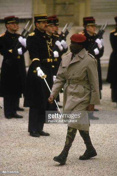 Thomas Sankara President of Burkina Faso in Paris on February 5 1986 in Paris France